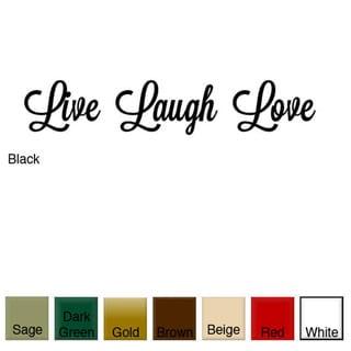 'Live, Laugh, Love' Vinyl Wall Art Decal