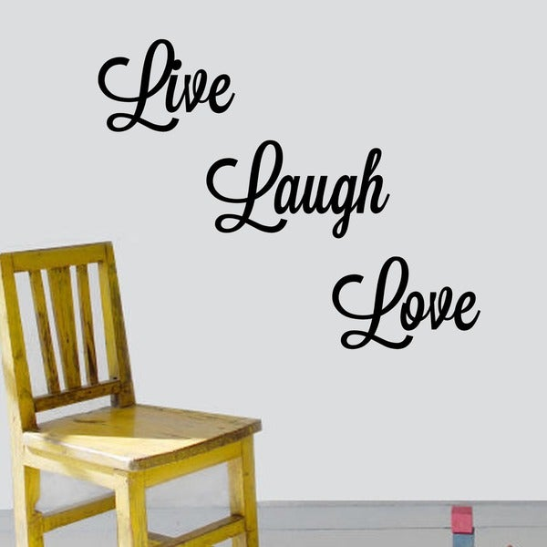 U0026#x27;Live, Laugh, Loveu0026#x27; Vinyl Wall Art Decal