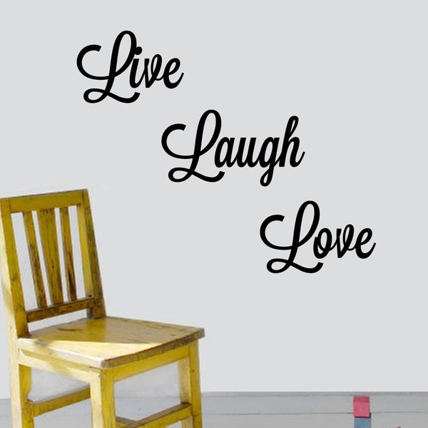 Live Laugh Love Vinyl Wall Art Decal Free Shipping On Orders - Wall decals live laugh love