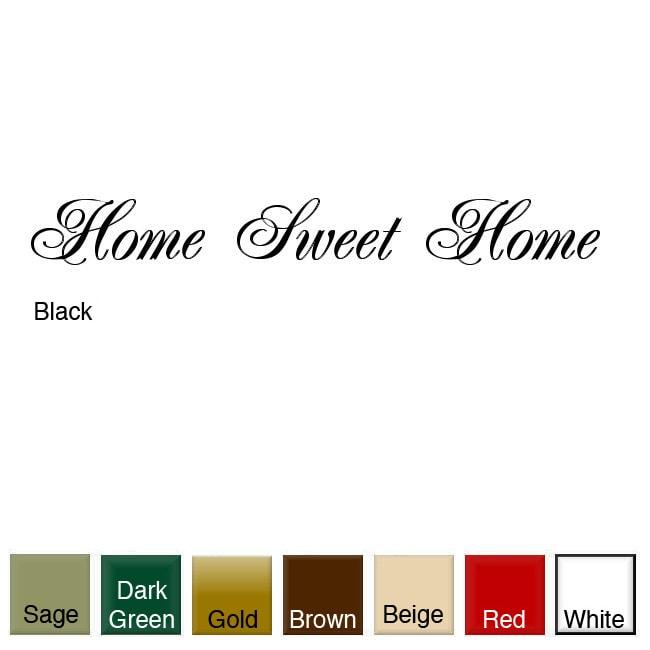 'Home Sweet Home' Vinyl Wall Art Decal