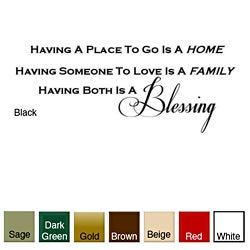 'Having a Place to Go is Home' Vinyl Wall Art Decal