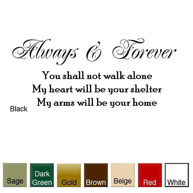 'Always and Forever' Vinyl Wall Art Decal