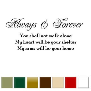 Always and Forever' Vinyl Wall Art Decal