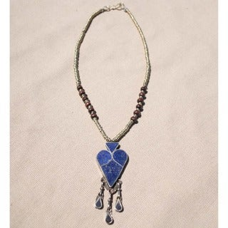 Handmade Tribal Lapis Lazuli Necklace (Afghanistan)