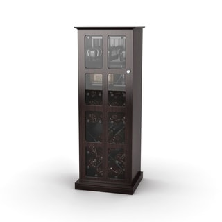 Atlantic Espresso Windowpane 24-bottle Wine Cabinet