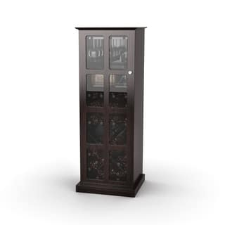 Atlantic Espresso Windowpane 24-bottle Wine Cabinet|https://ak1.ostkcdn.com/images/products/7018276/P14524587.jpg?impolicy=medium