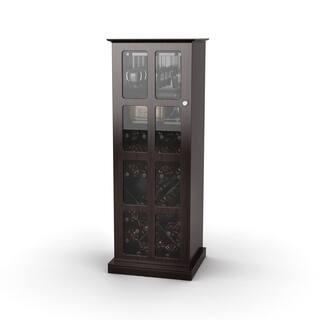 DarLiving Atlantic Espresso Windowpane 24-bottle Wine Cabinet