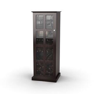 Incroyable Atlantic Espresso Windowpane 24 Bottle Wine Cabinet (Option: Windowpane 24 Wine  Cabinet In