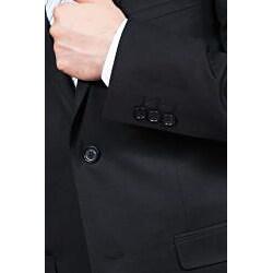 Ferrecci's Men's Black 2 Button Slim Suit