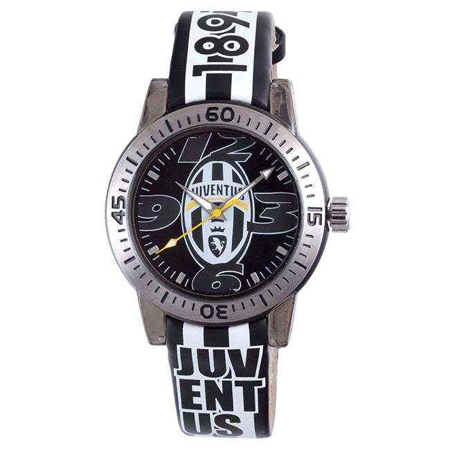 Juventus Men's Black Dial Leather Watch