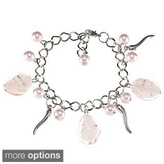 La Preciosa Silvertone Charm Bracelet