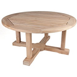 Shop Solid Teak Round Coffee Table - Free Shipping Today ...