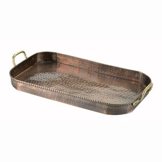 Old Dutch Oblong Antique Copper Tray