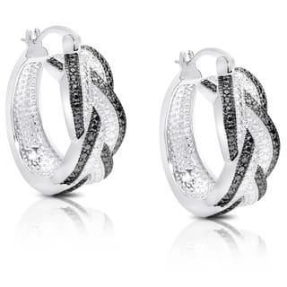 Finesque Diamond Accent Braided Hoop Earrings with Red Bow Gift Box|https://ak1.ostkcdn.com/images/products/7018433/P14524694.jpg?impolicy=medium