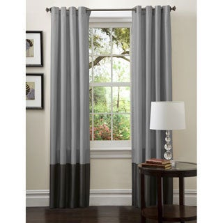 Lush Decor Prima Silver/ Black Curtain Panel Pair - Thumbnail 0