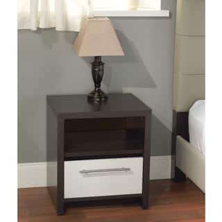 Simple Living White/ Espresso Night Stand|https://ak1.ostkcdn.com/images/products/7018494/7018494/White-Espresso-Night-Stand-P14524734.jpeg?impolicy=medium