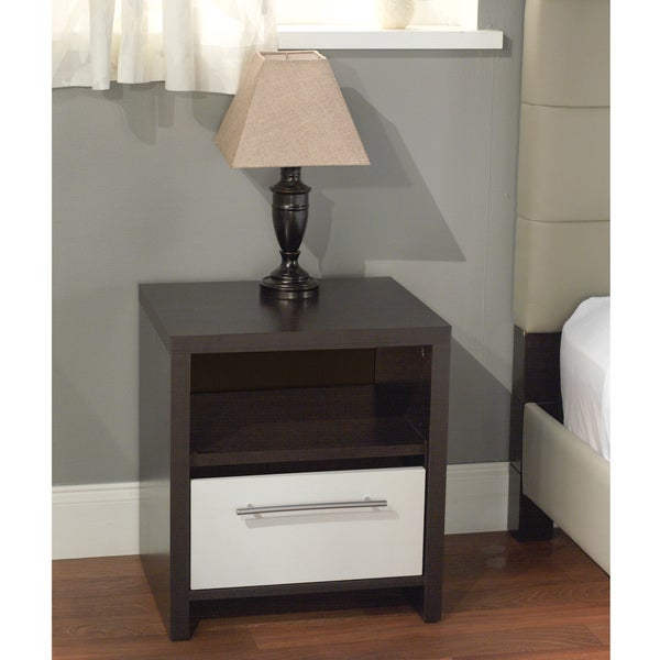 Delicieux Simple Living White/ Espresso Night Stand