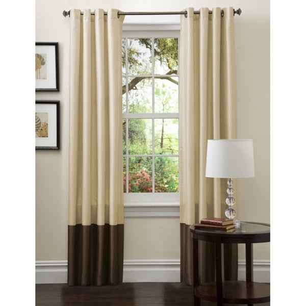 Lush Decor Prima Gold/ Brown Curtain Panel Pair