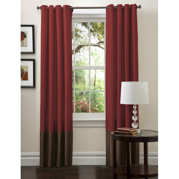 Curtains Ideas curtain panels on sale : Lush Decor Prima Faux Silk 84-inch Curtain Panel Pair - Free ...