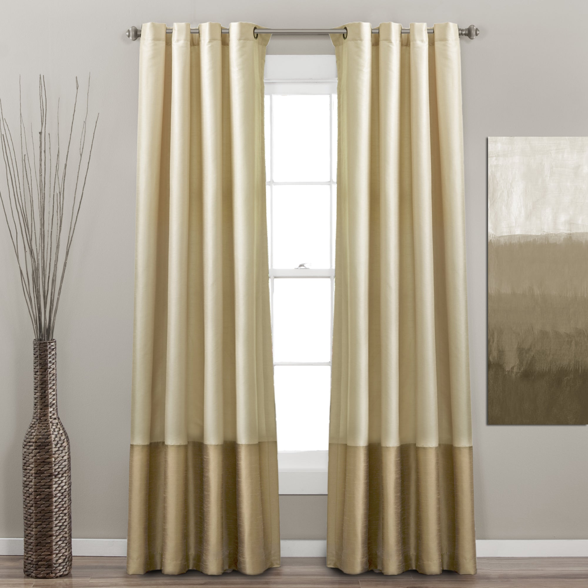 home terra by panels panel beige pair ivory curtain decor com dp inch amazon kitchen lush curtains