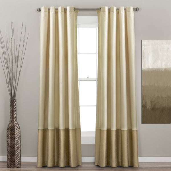 Delightful Lush Decor Prima Ivory/ Taupe Curtain Panel Pair