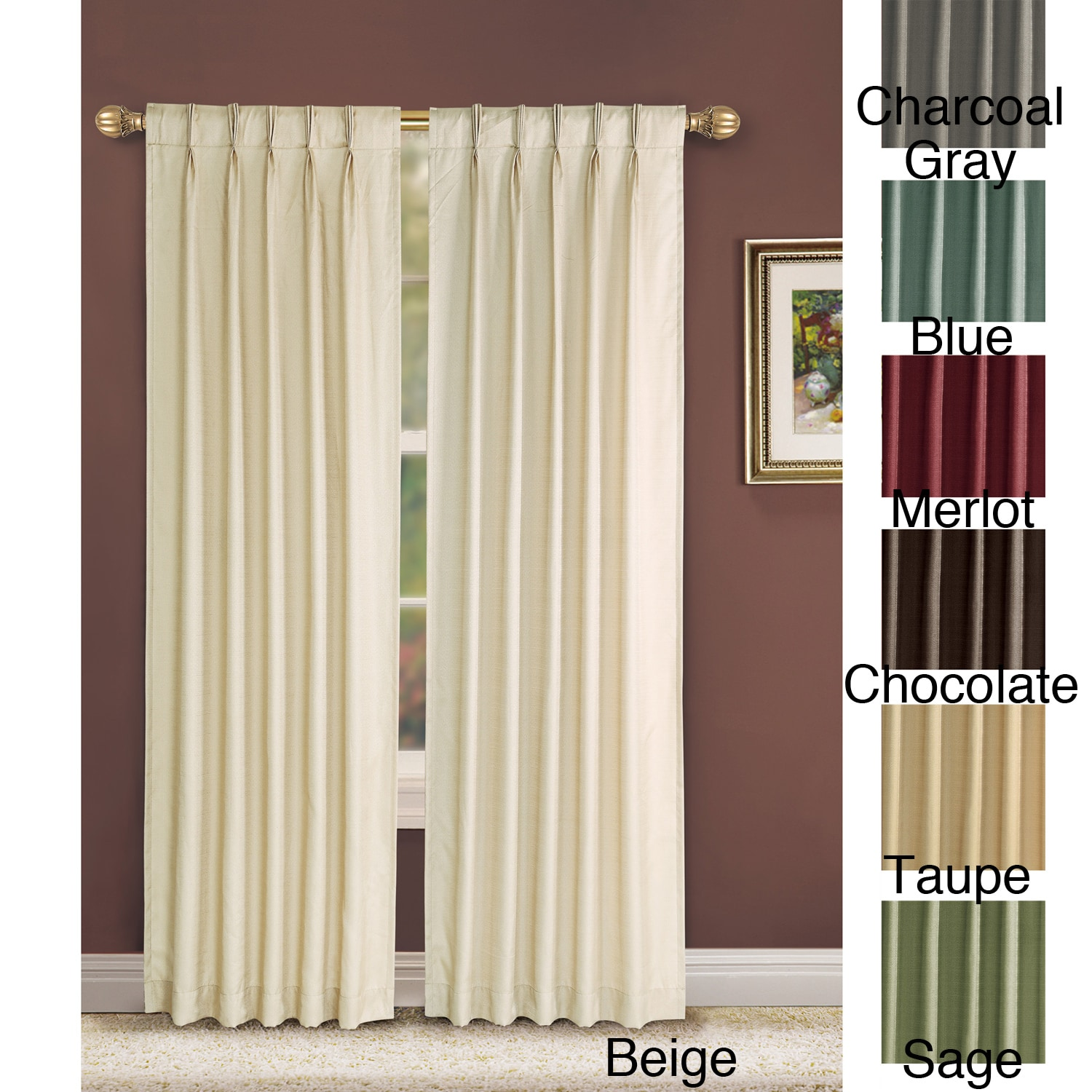 VCNY Manchester Pinch Pleat 84 inch Curtain Panel