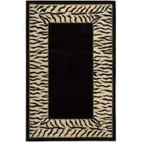 Nourison Hand-tufted Dimensions Black Rug - 5' x 8'
