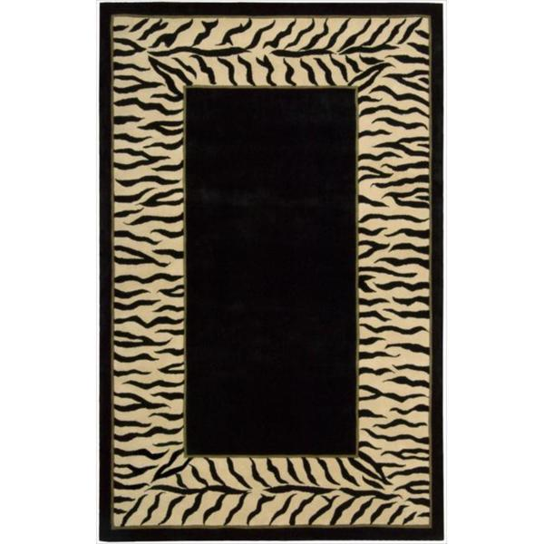 Nourison Hand-tufted Dimensions Black Rug (5' x 8')