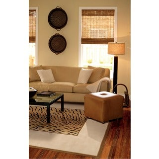 Nourison Hand-tufted Dimensions Brown Rug (5' x 8')