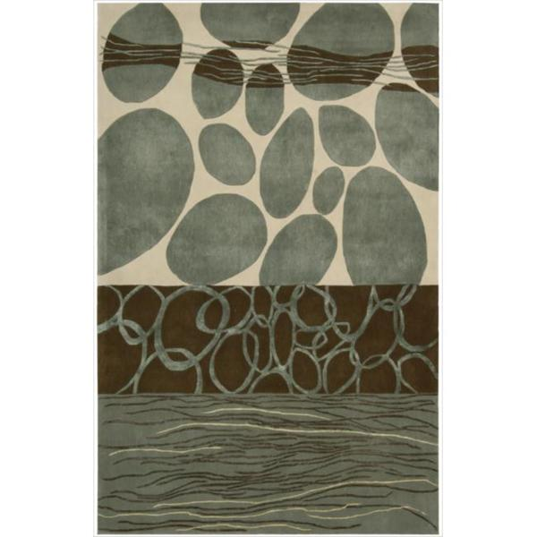 Nourison Hand-tufted Dimensions Multicolor Rug (5'x 8')