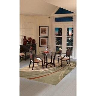 Nourison Hand-tufted Dimensions Bisque Rug (5'x 8')