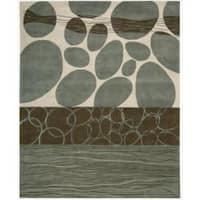 Nourison Hand-tufted Dimensions Multicolor Rug (7'6 x 9'6) - 7'6 x 9'6