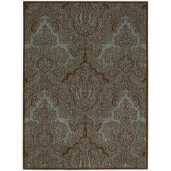 Joseph Abboud Majestic Teal Chocolate Area Rug by Nourison (3'6 x 5'6)