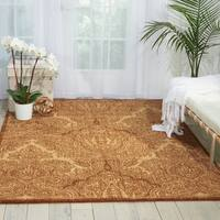 Majestic Buff Gold Area Rug by Nourison (5'3 x 7'5)