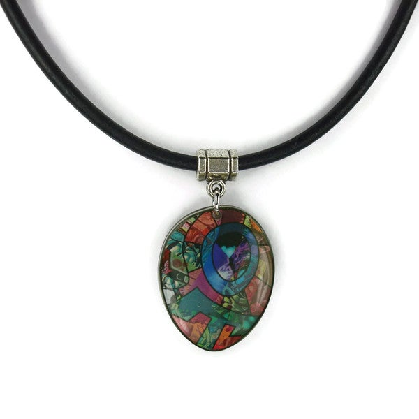 Jewelry by Dawn Abstract Greek Leather Necklace
