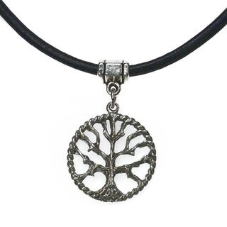 Handmade Jewelry by Dawn Tree Of Life Greek Leather Necklace (2 options available)