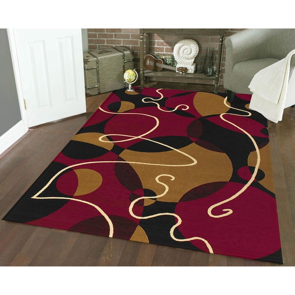 Admire Home Living Amalfi Illusion Area Rug (3'3 x 4'11)