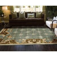 Nourison Hand-tufted Julian Light Blue Wool Rug - 7'6 x 9'6