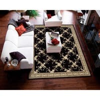 Nourison Hand-tufted Julian Black Wool Rug - 8' x 11'