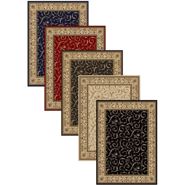 Admire Home Living Amalfi Scroll Area Rug (2'6 x 4'2) - 3'3 x 4'11