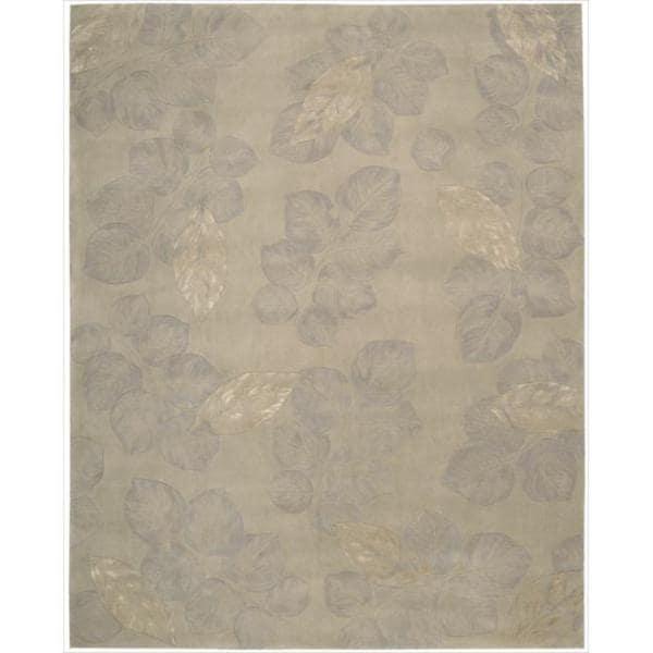 Nourison Hand-tufted Julian Grey Wool Rug (8' x 11')