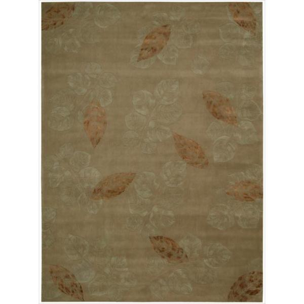 Nourison Hand-tufted Julian Light Brown Wool Rug - 8' x 11'