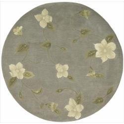Nourison Hand-tufted Julian Floral Stone Rug - 8' x 8'