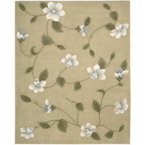 Nourison Hand-tufted Julian Light Gold Wool Rug (7'6 x 9'6)