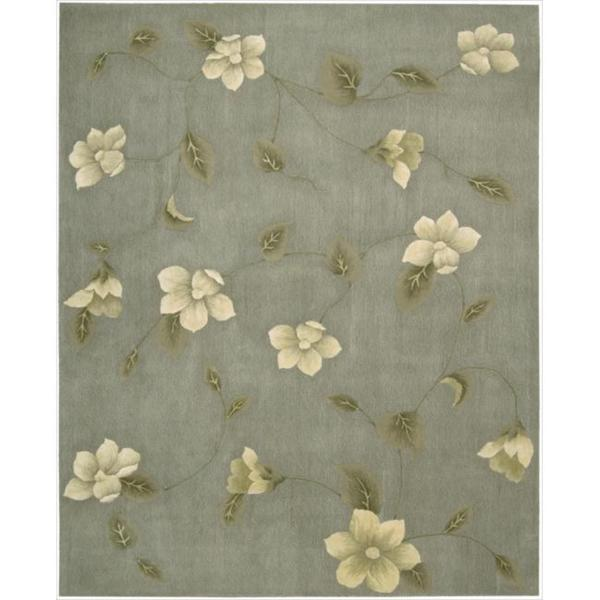 Nourison Hand-tufted Julian Floral Stone Wool Rug - 7'6 x 9'6