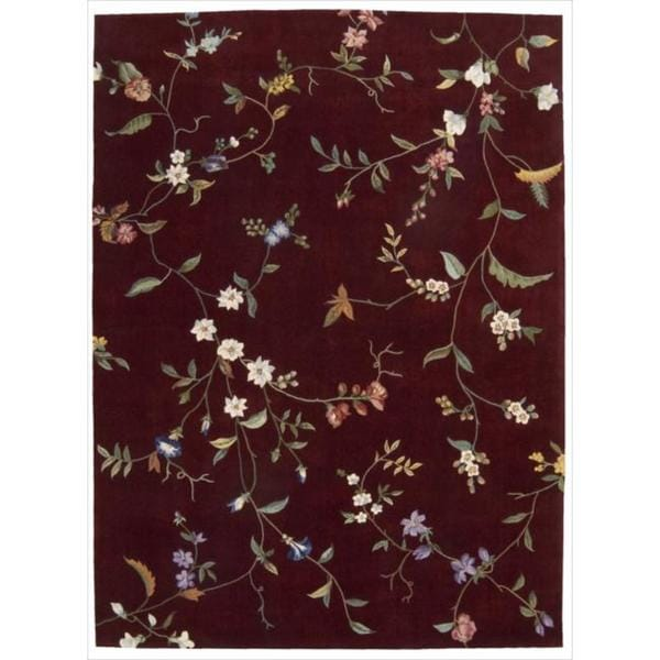 Nourison Hand-tufted Julian Ruby Rug (7'6 x 9'6)