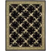 Nourison Hand-tufted Julian Black Wool Rug - 7'6 x 9'6