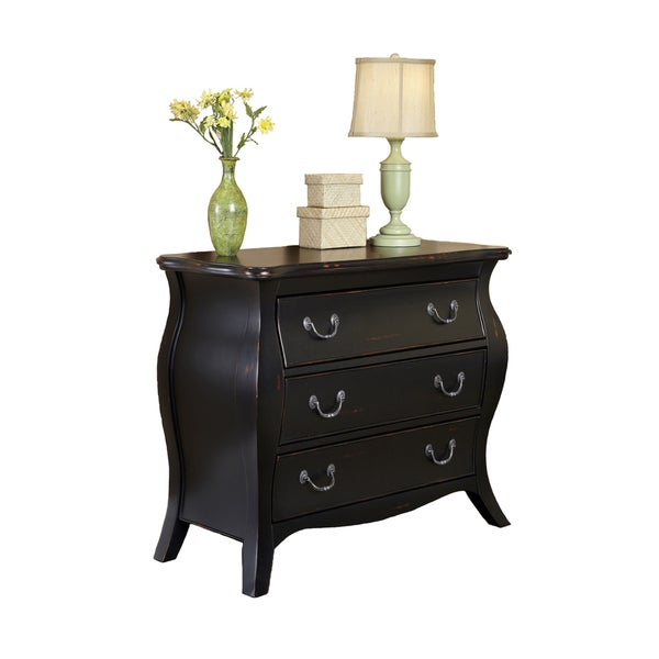 The Regency Black Bombe Chest by Home Styles