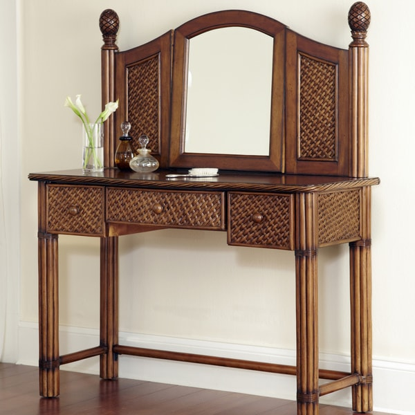 Home Styles Marco Island Refined Cinnamon Vanity and Mirror