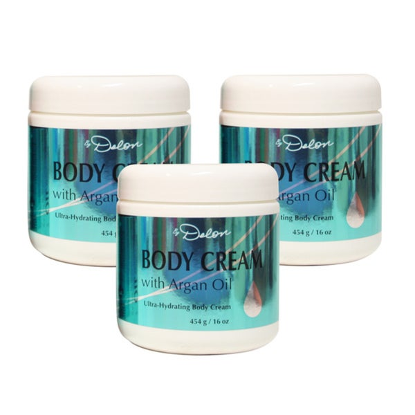 Delon Argan Oil 16-ounce Body Cream (Pack of 3)